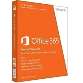 Microsoft Software 6Gq-00024 Office 365 Home Premium English Subscription 32/64Bit Na/Pr Medialess 1Year Brown Box at Sears.com