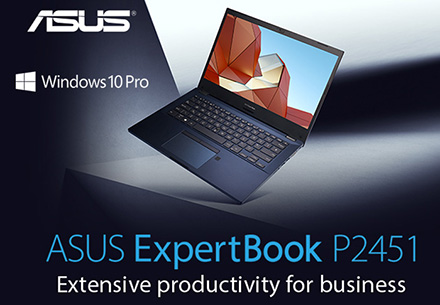 ASUS ExpertBook P2451 Notebook. Extensive productivity for business.