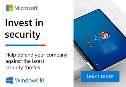 Windows: Invest in Security